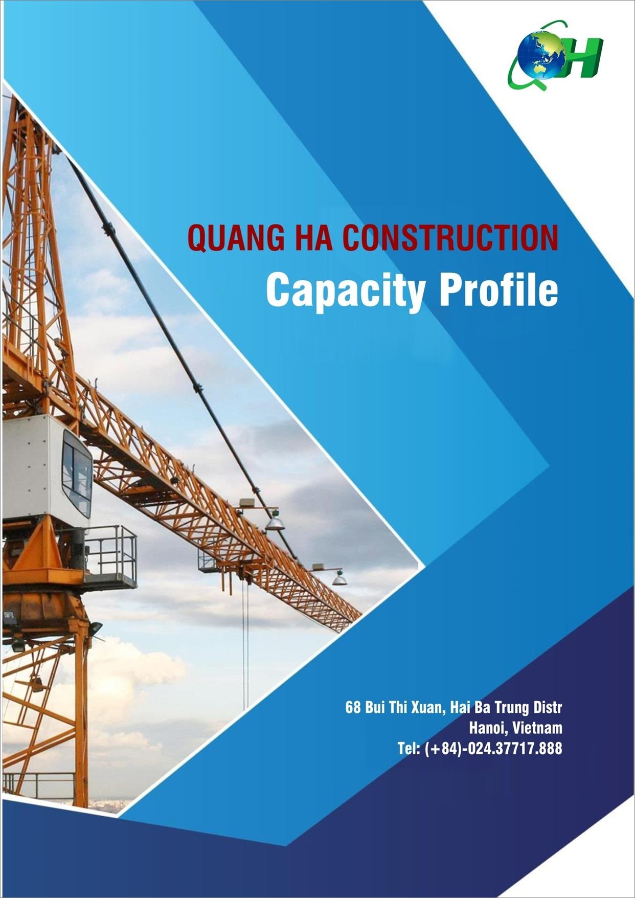 Hồ sơ năng lực Công ty Cổ phần XDTM & TT Quang Hà (Tiếng Nhật)